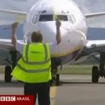 Avião reportagem BBC