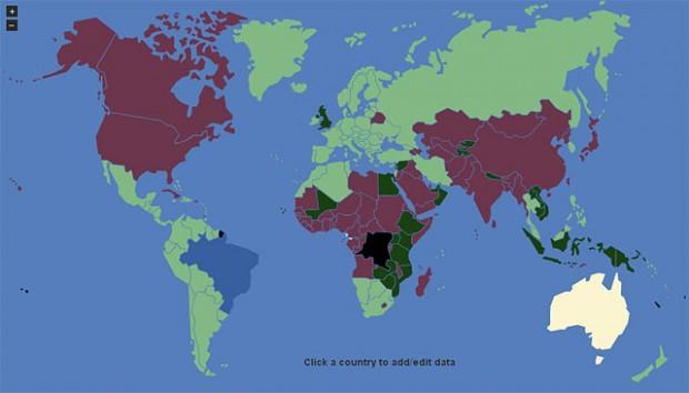 No site colaborativo Visa Mapper é possível conferir o que cada país exige para a entrada de turistas.