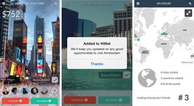 Com o aplicativo, é possível dividir a sua lista de destinos desejados com os amigos / Reprodução