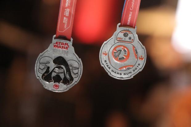 Medalha de 2015 da Star Wars Run; primeiros colocados ganharão viagem para Orlando