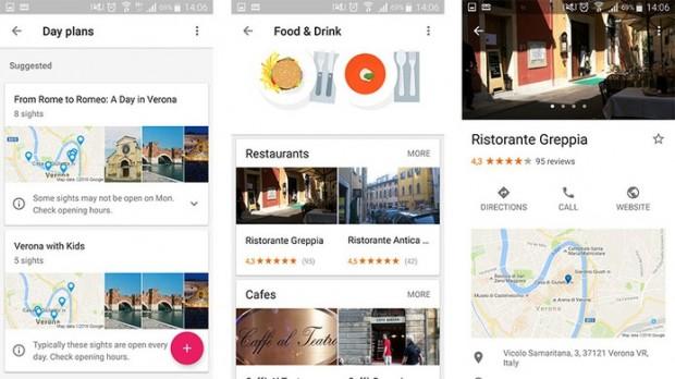 Google Trips tem sugestões de agenda diária e de restaurantes no destino