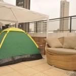 Albergue oferece barraca de dois lugares e roupa de cama e colchonete